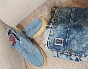 کیف کفش جین