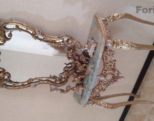 آینه وشمعدون آلومینیوم خشکه