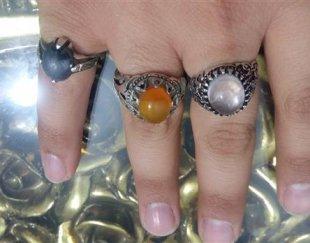 فروش انگشتر نقره ای مردانه