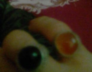 انگشتر قدیمی عقیق سیاه کمیاب وعقیق پرتقالی به شرط کارشناس ۱۵۰۰ساله