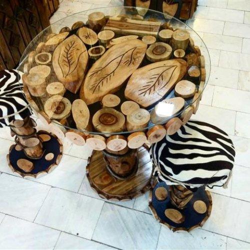 تولید میز و صندلی غذاخوری – طرح جنگلی