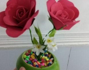 گلدان های باگل های فومی دست ساز