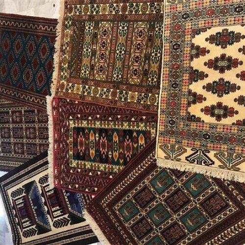 قالیچه دستبافت تمام پشم ریزبافت