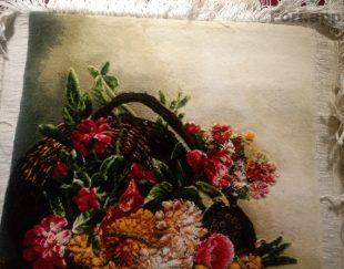 تابلو فرش گل ریخته