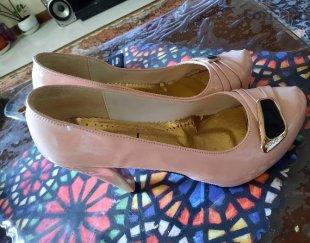 کفش پاشنه بلند زنانه صورتی
