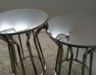 دو عدد میز جلو مبلی صفحه آینه ای