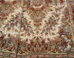 فرش دستباف شش متری جفت ابریشم