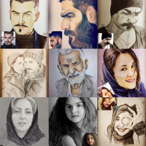 نقاشی چهره وطراحی چهره، کمترین زمان