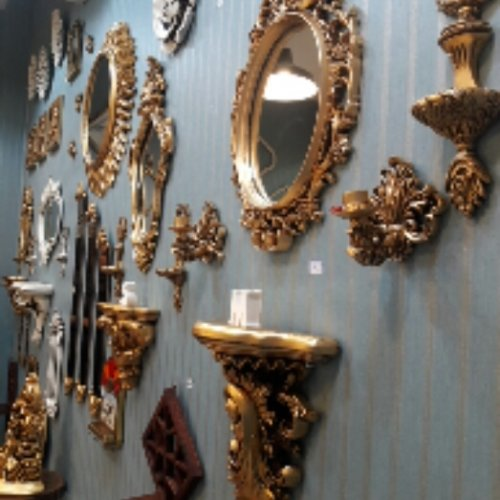 آینه کنسول شمعدان
