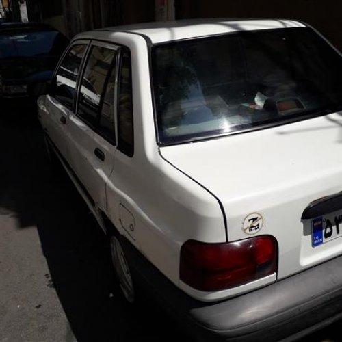 پراید سفید صندق دار مدل ۸۴