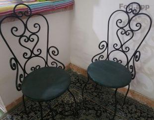 صندلی فلزی فرفرژه
