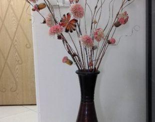 دوعدد گلدان و یک عدد میوه خوری دکوری