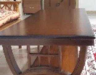 میز جلو مبلی  مستطیل دوتیکه چوب عالی