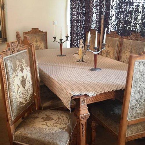 مبلمان ۹ نفره + میز نهار خوری ۸ نفره