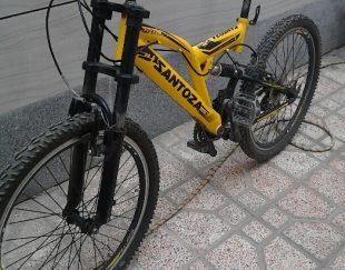دوچرخه نو سایز ۲۴ لاستیک ها نو شانیزمان نو تازه از تمیرگاه اوردم