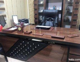 ست اداری میز مدیریت ، صندلی و ویترین وارداتی
