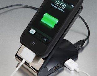 نگهدارنده غیر لغزشی موبایل با هاب شارژر ۴ پورت USB