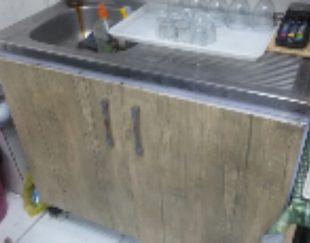 کابینت و سینگ ظرف شویی درجه ۱استیل و یک عدد روشویی کامل درجه ۱ نو