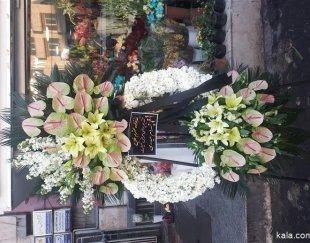 سفارش انواع تاج گل تسلیت تبریک افتتاحیه باکس رز