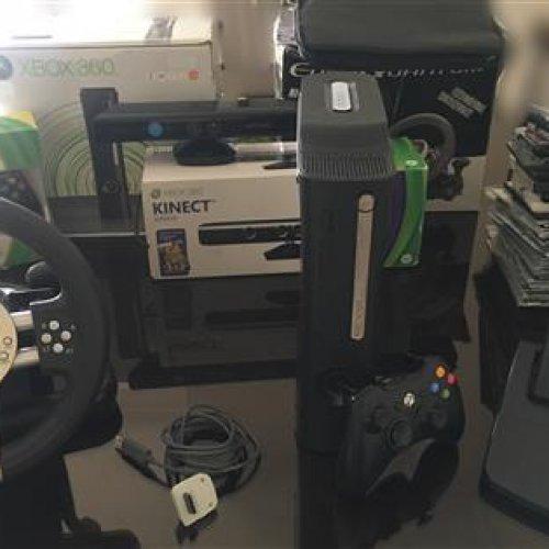 Xbox 360 Elite + kinect + فرمان