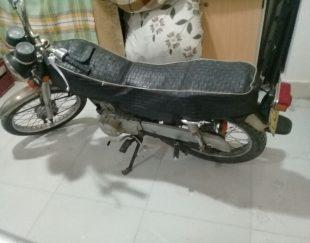 موتور سیکلت تکتاز مدل ۸۱ پلاک قدیم