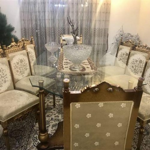 ست مبل سلطنتی به همراه میز وصندلی نهار خوری