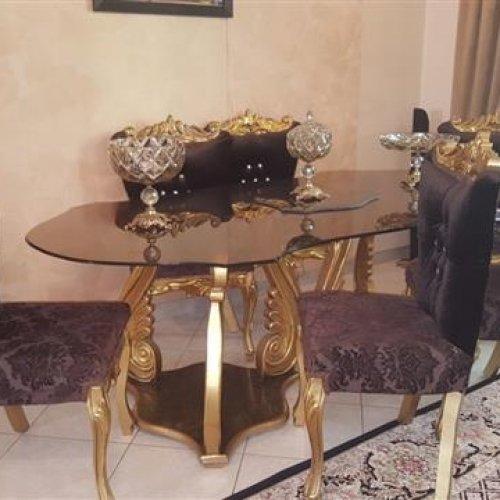 مبلمان و ناهار خوری ورق طلا کلاسیک