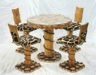 میز و صندلی ناهارخوری چوبی