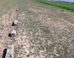 زمین قبرستان ۶۶متر