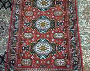 یک جفت قالیچه(ماشینی) ۱/۵متری ، طرح ترکمن