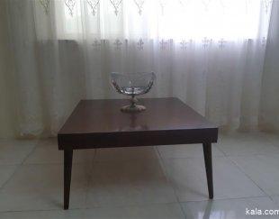 میز وسط طرح مربع رنگ فندقی