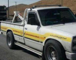 امداد خودرو یدک کش نیسان جرثقیل خودروبر