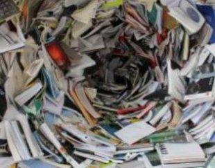 ضایعات کتاب دفتر کاغذ