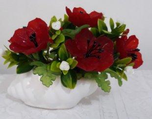 گلدان گل حلزونی- گل کریستالی