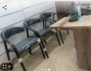۴ عدد صندلی فلزی اداری