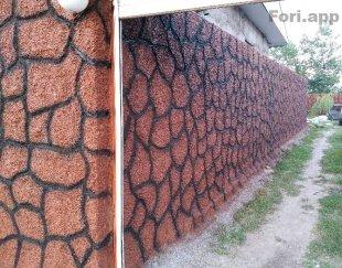 سیمانکاری طرحدار متنوع و رنگ امیزی در گیلان