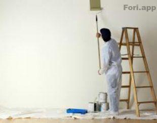 نقاشی ساختمان کنتکس کاری رنگ کاری راویز در سقف اشپز خانه و اتاق