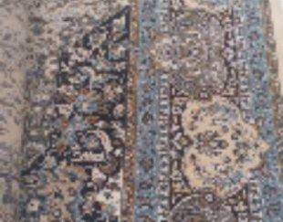فرش ۱۲ متری به رنگ آبی شیری