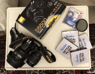 دوربین نیکون d5500 با دو لنز و فیلتر