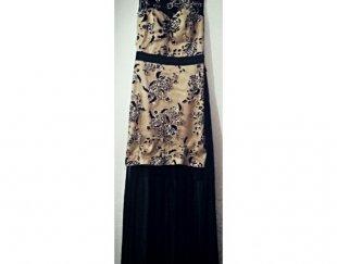 لباس مجلسی طلایی مشکی