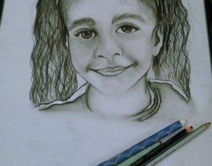 طراحی سیاه قلم چهره