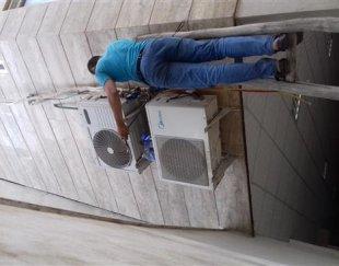 کولر گازی نصب سرویس شرژ گاز جابجایی