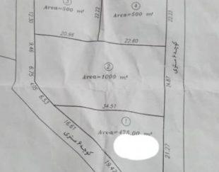 زمین فروشی در نزدیکی مرزن آباد ( روستای کلاک) ۵۰۰ متر