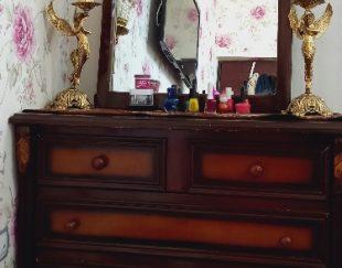 تخت دونفره همراه میز آرایش وزیر تلویزیون وجاکفشی