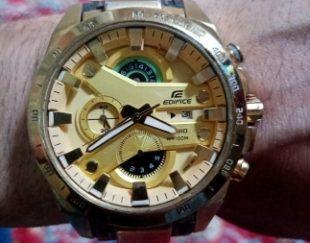 یک عدد ساعت کاسیو ۵موتوره طلایی