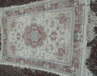 فرش دست باف به طول۱.۵۵ عرض یک متر با نقشه خطیب کاملا مینوس