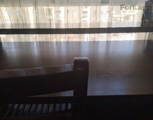 میز کامپیوتر و کتابخانه تمام چوب