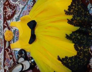 لباس مجلسی دخترانه و یک جفت کفش