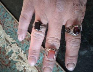 ۳عدد انگشتر نقره در حد نو