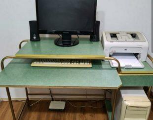 میز کامپیوتر اسکلت فلزی و mdf
